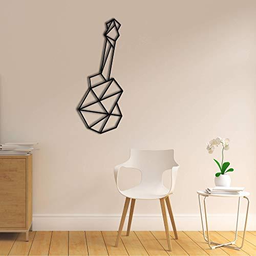 Decoración de pared de madera con diseño de guitarra, decoración minimalista para pared