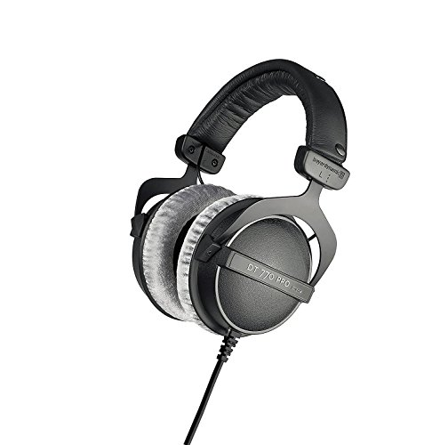 beyerdynamic DT 770 PRO 80 Ohm Over-Ear Studio Headphones in black. Enclosed...