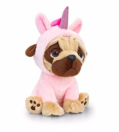 Pugsley Keel Toys 20 cm Einhorn Mops Hund ...