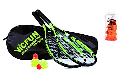 VICFUN Speed Badminton Set Speed Badminton 100 Set (Premium Variante)