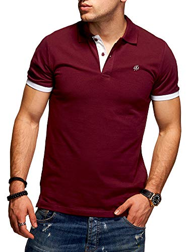 Jack & Jones Men's Polo Shirt Short Sleeved Top T-Shirt Classic Business (Small, Port Royale/White)