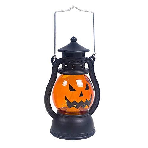 HAOSHUAI Luces de la Secuencia decoración de Halloween apoyos del Partido de Halloween de la Linterna de la Vendimia Que cuelga la decoración de la lámpara de luz portátil (Color : A)