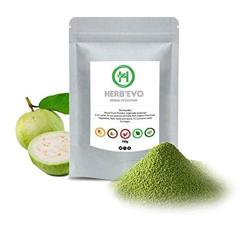 Herbevo Guava Fruit Powder, Spray Dried, Rich in Vitamin C, Real Fruit Powder, 100g