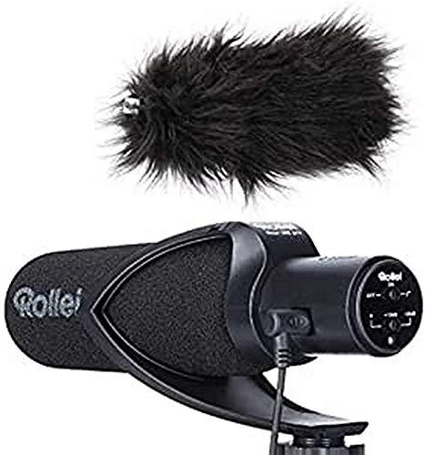 Rollei Hear: Me Pro Microfono professionale con ipercardioide, microfono video per registrazioni audio mirate, microfono esterno per DSLR