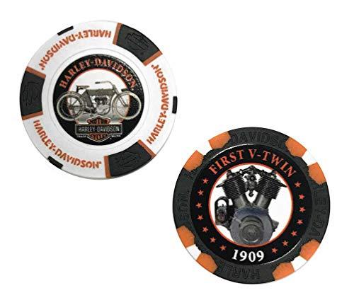 Harley-Davidson Limited Edition Series 2 Poker Chips Pack, Black & White 6702D