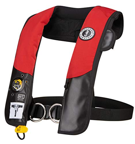Mustang Survival - HIT Inflatable PFD with Sailing Harness for Adults (Red & Black - One Size Fits...