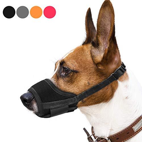 REENUO Dog Muzzles Mesh Breathable Nylon Adjustable Loop Dog Training...