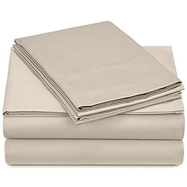 Pinzon 500-Thread-Count Pima Cotton Sateen Sheet Set - Queen, Canvas