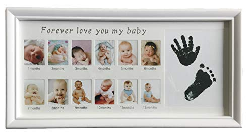 Ducomi Honey fotolijst voor foto, motief: handen en voeten voor kinderen en pasgeborenen – een bijzonder cadeau voor doop en geboorte – kaart voor kinderen en pasgeborenen Frame 3