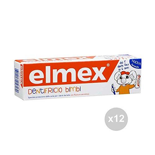 Elmex tandpasta voor kinderen, 0-6 50 ml, tandverzorging, meerkleurig, 12 stuks