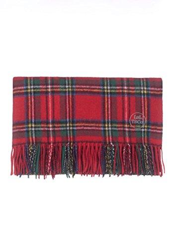 The Tartan Blanket Co. Couverture bébé en Laine d'agneau – Style Tartan écossais Stewart Royal