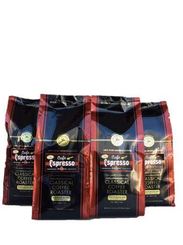 コーヒー豆 クラシカルコーヒーロースター 100% アラビカ 豆 カフェエスプレッソ 2kg combo set 500g×4袋 セット 極細挽 エスプレッソ パウダー