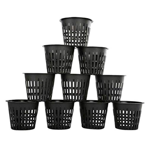 JXAA 10pcs Horticultural Hydroponic Planting Basket Piantatura Tazza, Coltivazione del Suolo Coppa a Rete a Maglia 3 Pollici Tazza a Rete a Rete, Cestino Largo Secchio per Labbro per idroponica