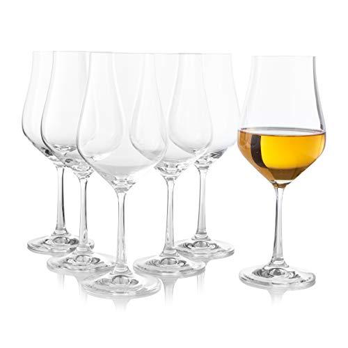 Juego de 6 copas de vino blanco con forma de tulipán, elegantes,...
