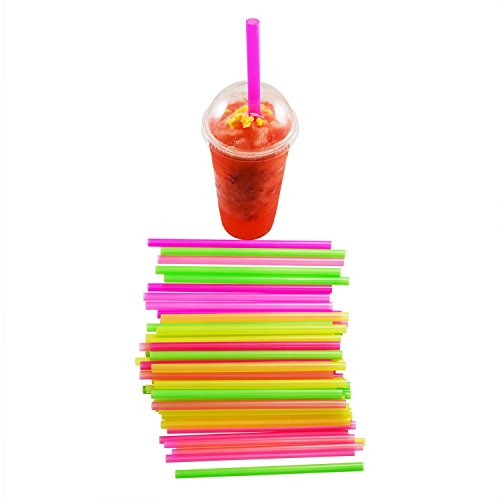Houseables Boba Straws, Smoothie Straw, Extra Wide & Fat, 100 Pack, 10.5 Inch Long, 0.5