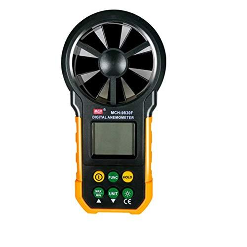 HEQIE-YONGP Dgital Meter hohe Genauigkeit Hochpräzises Hand-Anemometer Digitales Wind-Anemometer-Anemometer-Instrument MCH-9830F