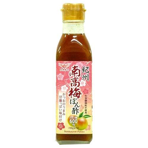 ハグルマ 紀州 南高梅ぽん酢 200ml瓶×12本入×(2ケース)