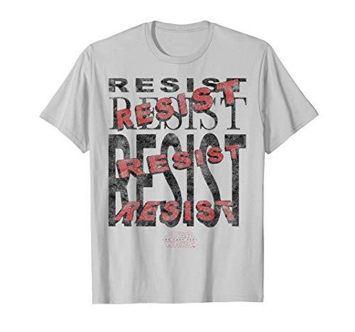 Star Wars Last Jedi Vintage Resist Repeat Camiseta
