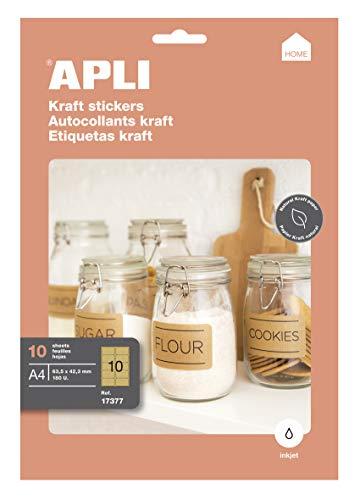 Etiquetas Kraft Adhesivas Marca APLI
