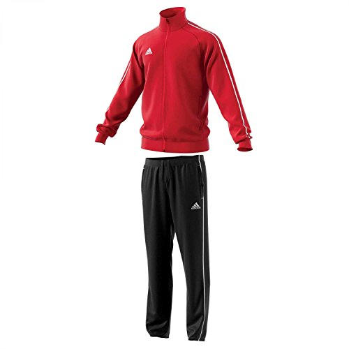 adidas Herren Polyesteranzug Core 18 Power red/White XL