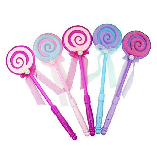 STOBOK 5 stücke LED-Licht-Up Lutscher Glow Sticks Flashing Fairy Wand Sticks Geburtstagsgeschenk Party Supplies Zufällige Farbe