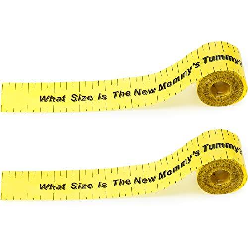 2 Rolls 2 Inch x 150 Feet Tummy Measure Baby Shower Game Measure Tape Baby Shower Party Favors Party Supplies