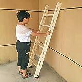 Escalera Cama Litera Escalera de Litera de Madera Maciza para Cama Doble 100cm / 125cm / 150cm, Escalera de Mano para Trabajo Pesado con Accesorios de Instalación y Pies Antideslizantes, Carga Máxima