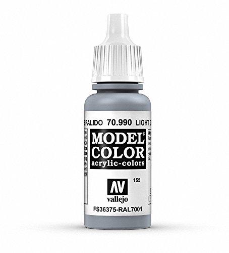 Vallejo Model Color Pintura Acrílica, Gris (Light Grey), 17 ml