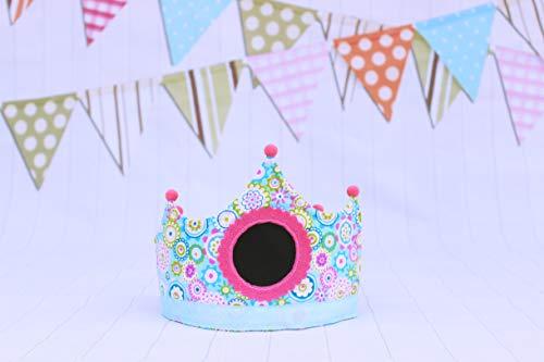 Corona cumpleaños niña flores regalo infantil cumpleaños decoración de cumpleaños flores smash cake niña