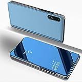 Coque Huawei P20 Lite Rabat Transparent Clapet Mirroir Flip Cover Miroir à rabat Portefeuille PU...