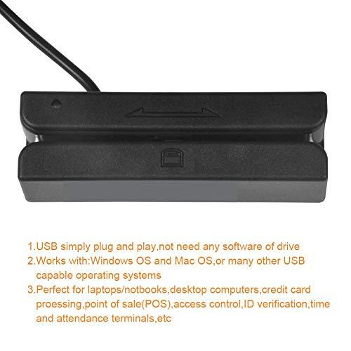 Lettore di carte di credito USB portatile MSR90,Mini Triple Tracks Magnetic Swipe Card Reader