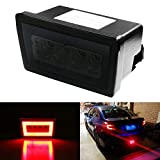 iJDMTOY Smoked Lens 3-in-1 Full LED Rear Fog Light Kit Compatible with Subaru Impreza WRX/STI or Crosstrek, Function as Tail/Brake Lamp, Backup Reverse Light (Includes Wire Harness & Mounting Bracket