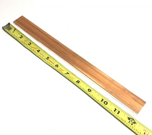 110 Copper Flat Bar 1/4' x 1' x 12' Long-Copper Bus Bar