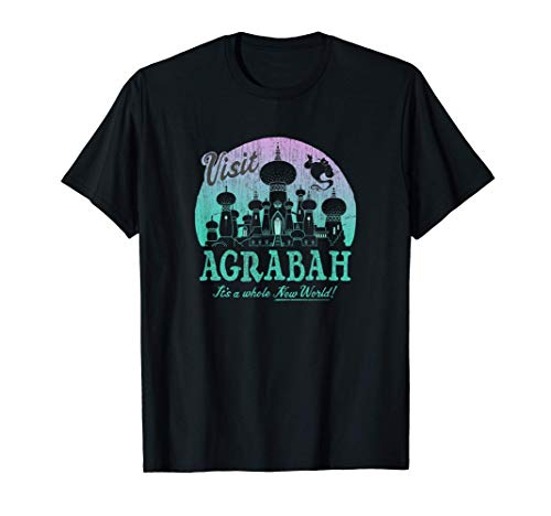 Disney Aladdin Visit Agrabah It's A Whole New World Gradient Maglietta