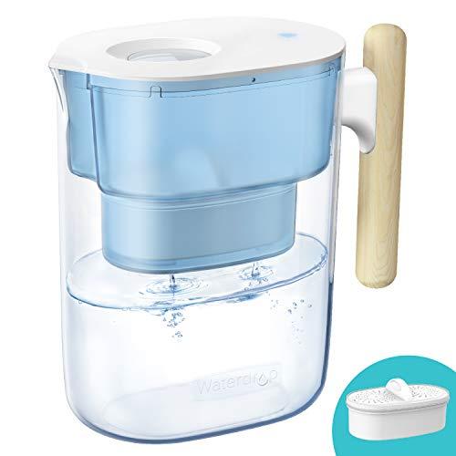 Waterdrop Chubby NSF Zertifizierte Wasserfilterkrug 3.5 Liter mit 1×90 Tage Filterkartusche, 7-Stufige Filteration zur Reduzierung von Chlor, Geruch und Mehr, BPA Frei, Blau (Filter: WD-PF-01A Plus)