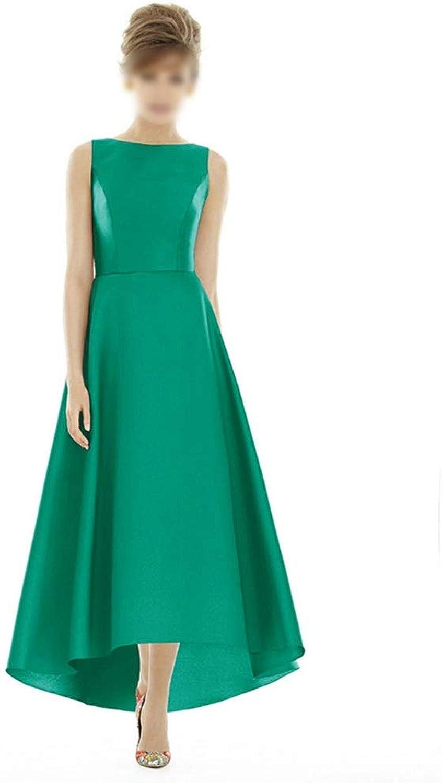 Kirabon Women's Fashion Sleeveless Long Aline Evening Formal Dress Bridesmaid Dress (color   Green, Size   L)