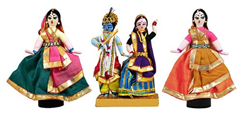 DollsofIndia Radha Krishna  Mueca de alambre  15,2 x 10,1 x 5,7 cm cada uno (HZ98)