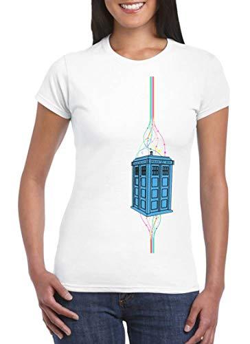 UZ Design Camiseta Doctor Who Tardis Mujer Chica Niño Cabina Series TV, Niño 12-14 Años