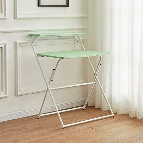 Klapptisch Doppelschichtiger Home-Office-Schreibtisch Schreibtisch Moderner Einfacher Studentenzimmer Tragbarer Schreibtisch Malertisch Laptop-Schreibtisch, Keine Montage
