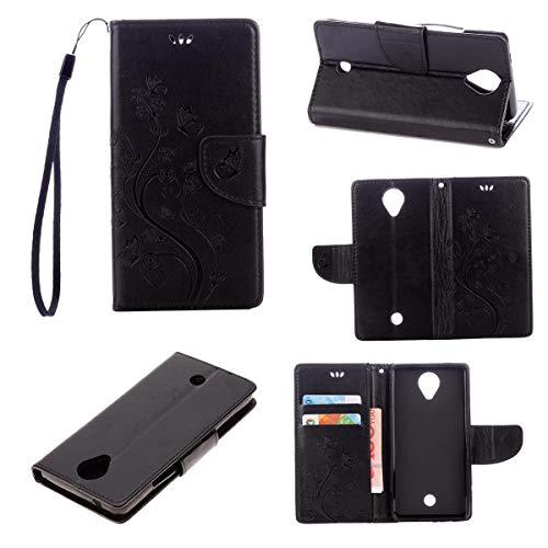 mächtig Schutzhülle für JEEXIA® WikoU Wheel, Flip Case mit Retro-Kunstledertasche, interner Brieftaschenschlitz…