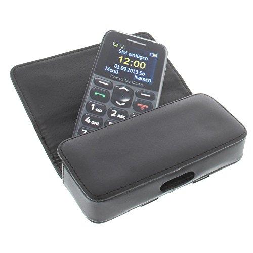 foto-kontor Tasche für Nokia 215 301 Asha 202 Asha 203 222 Quertasche Handytasche Schutz Hülle schwarz