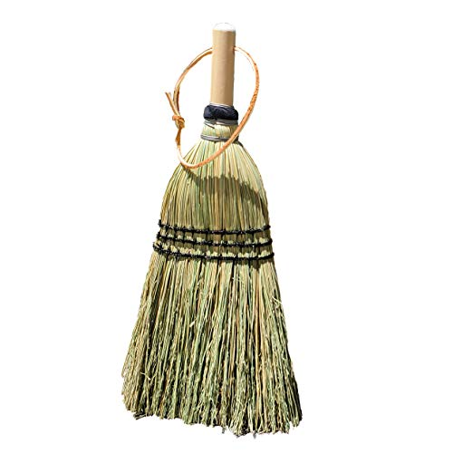 Authentic Hand Made All Broomcorn Hand Broom (13.5-Inch/Deluxe Whisk)