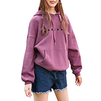 Hoodies for Women Warm Long Sleeve Sweatshirt Pullover Coat Loose Casual with Pocket