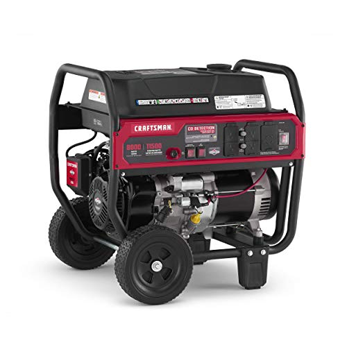 Craftsman 8000 Watt Portable Generator with Push Button Electric Start and CO Detection Technology,...