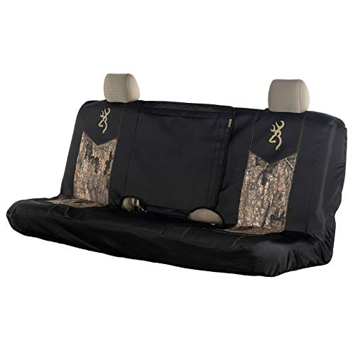 Realtree Timber Camo Browning Logo Universal Seat Covers (Timber Bench)