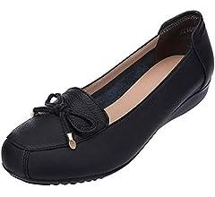 Jamron Mujer Piel Genuina Comodidad Zapatos Suela Blanda ...