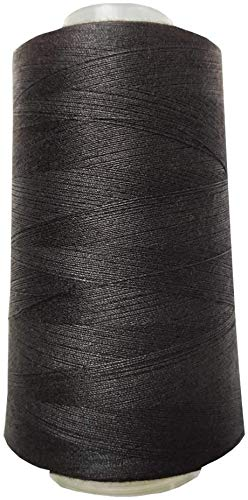 Meikeer Sewing Thread 100% Polyester 40s/2 Serger Cone Thread 3400 Yards/1 Spool of Yarn,All Purpose Thread High Tensile Spools,for Serger, Overlock, Quilting, Sewing Machine(Black)