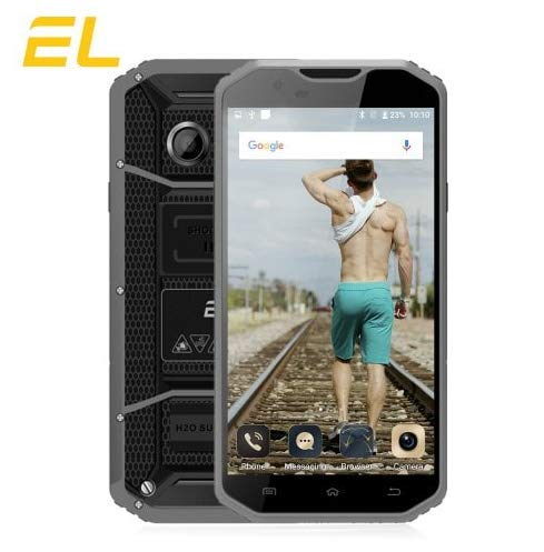 EL W8 Rugged Phone - 4G, 5.5 Inch, Android 6.0, Octa Core, 2GB RAM, 16GB ROM, IP68 Waterproof, 8.0MP Rear Camera - Gray