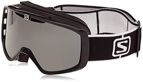 Salomon, AKSIUM, Máscara de esquí Unisex, Ajuste Mediano-Pequeño, Negro/Solar Black, L41151300