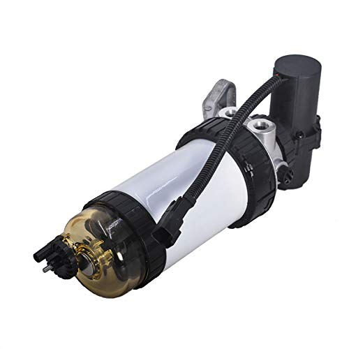 WFLNHB Fuel Pump Fuel Filter Assembly Replacement for JCB DieselMax 444 CAT 422E 428D 428E 432D Loader 248B 287B 262B 252B 246B 277B 268B 236B 267B CAT Engine With Wire